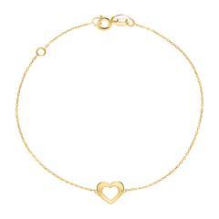 Damenarmband Herz aus 9-karätigem Gold