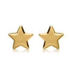 Ohrstecker Sterne für Damen aus 585er Gold