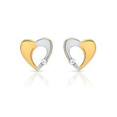 Ohrstecker aus 333 Weiß- und Gelbgold mit Stein