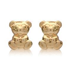Stecker aus 375er Gold mit Teddybär-Motiv