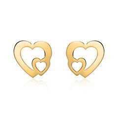 Damen Ohrstecker Herzen aus 585er Gold