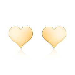 Damen Ohrstecker Herzen aus 14K Gold, gravierbar