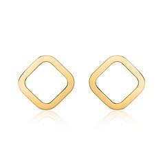 Quadratische Ohrstecker für Damen aus 14K Gold
