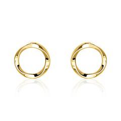 Ohrstecker Kreis für Damen aus 375er Gold