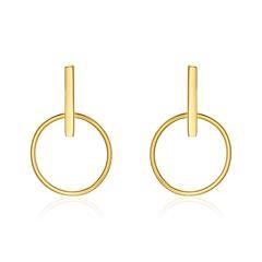 Ohrstecker Kreise für Damen aus 9K Gold