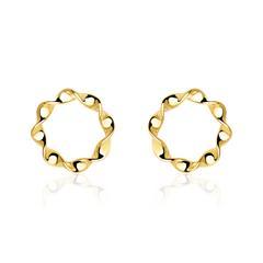 Damen Ohrstecker Kreise aus 375er Gold