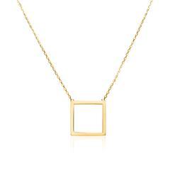 Kette Quadrat für Damen aus 9K Gold
