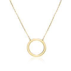 Damenkette Kreis aus 375er Gold