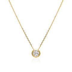 Damenkette aus 375er Gold mit Glasstein
