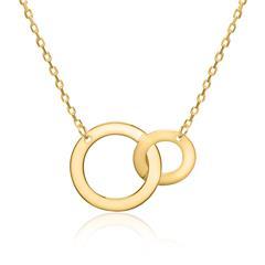 Damenkette Kreise aus 375er Gold
