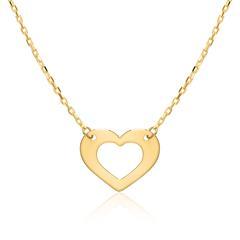Damenkette Herz aus 9-karätigem Gold
