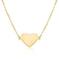 Halskette Herz für Damen aus 9K Gold, gravierbar