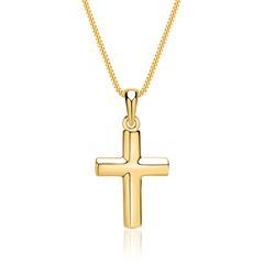 Goldkette: 333er Gelbgold mit Kreuz