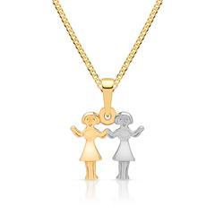 Goldkette mit Sternzeichenanhänger Zwillinge