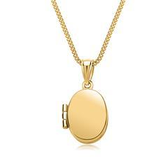 Kette mit Ovalem Medaillon 333er Gelbgold