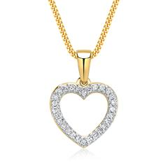 Goldkette mit Herz-Anhänger 585er Gold