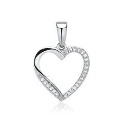 Herz-Anhänger 585er Weißgold Diamanten