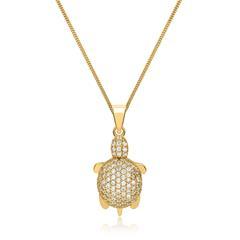 Kette mit Schildkröten-Anhänger 333er Gold
