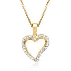 333er Goldkette mit Goldanhänger in Herzform