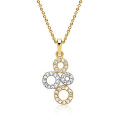Elegante Kette 333er Gold Zirkonia Ringe