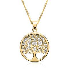 Elegante Kette 333er Gold bicolor Baum