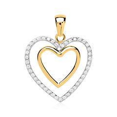 Herz Anhänger 333er Gold mit Zirkonia