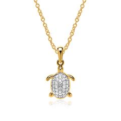 333er Goldkette Schildkröte Zirkonia