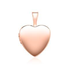Gravur Herz Medaillon aus 14K Roségold aufklappbar