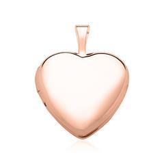 Gravur Medaillon Herz aus 14K Roségold