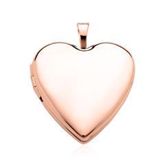 Herz Medaillon aus 14-karätigem Roségold gravierbar