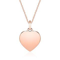 Shopping-Tipp: Gravierbare Halskette Herz 585er Hit