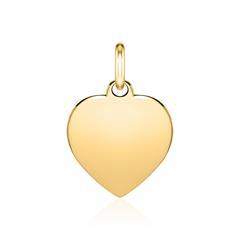 585er Goldanhänger Herz mit Gravuroption