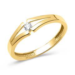 333er Gelbgold Ring poliert mit Zirkonia