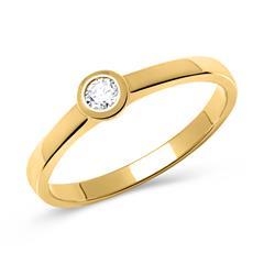 333er Goldring: Gelbgold Ring mit Zirkonia
