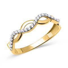 Ring 333 Gelbgold im verschlungenen Design
