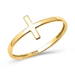 Ring in Kreuzform 333er Gelbgold GR0091