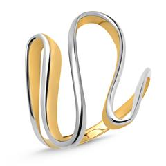 333er Gold Ring poliert geschwungen