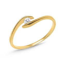 333er Gold Filigraner Ring mit Zirkonia