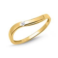 Geschwungener 333er Gold Ring mit Zirkoniastein