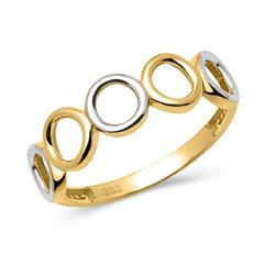 Bicolor 333er Gold Ring mit Kreiselementen
