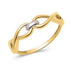 333er Gold Unendlichkeits Ring
