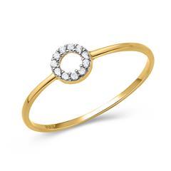 Ring aus 333er Gold mit Steinbesatz