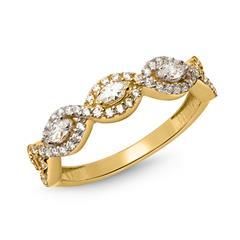 Ring Gold 333er im verschlungen Design