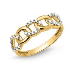 Ring 333er Gold Kreiselemente bicolor