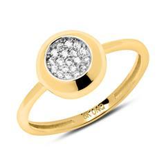 8-karätiger Gold Ring mit Zirkoniasteinen