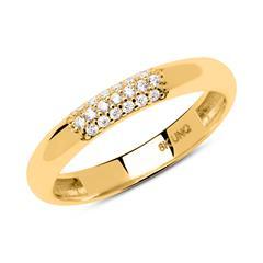 Konvexer Ring aus 333er Gold mit Zirkonia