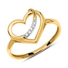 Herzring aus 333er Gold mit Zirkoniasteinen
