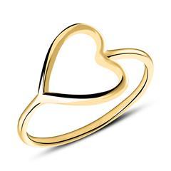 Ring mit Herz aus 9K Gold