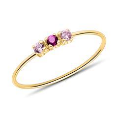 Ring für Damen aus 375er Gold mit Zirkonia