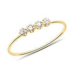 Ring für Damen aus 9K Gold mit Zirkonia